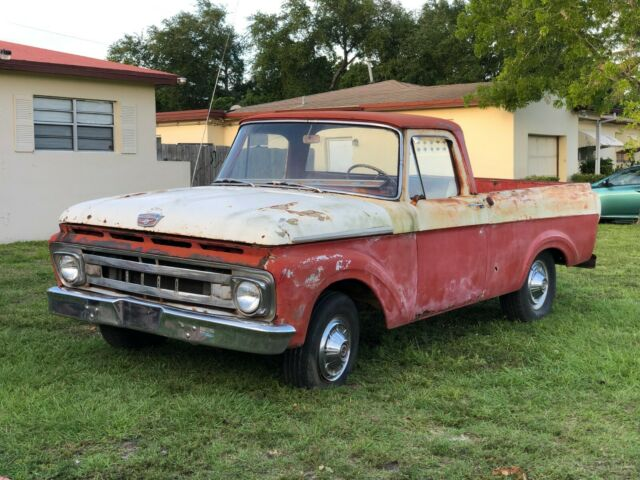 1961 Ford F-100 Unibody Custom Cab Big Back Window Shortbed