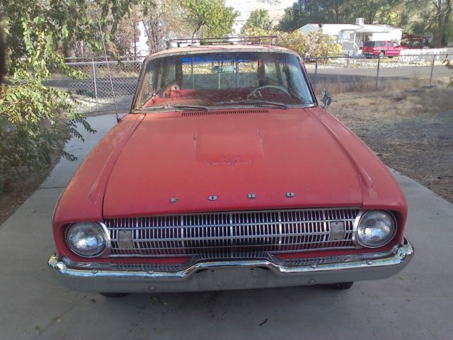1961 Ford Falcon red white deluxe
