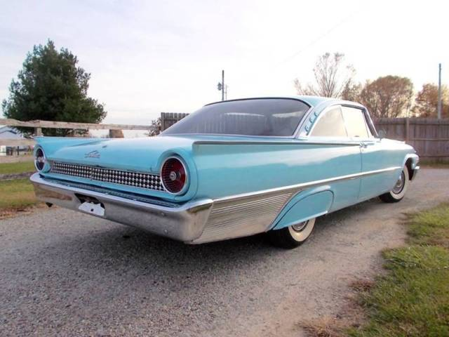 1961 Blue Ford Galaxie Starliner Coupe with Blue interior
