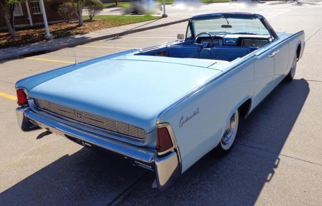 1961 lincoln continental suicide door 80 720 miles blue. Black Bedroom Furniture Sets. Home Design Ideas