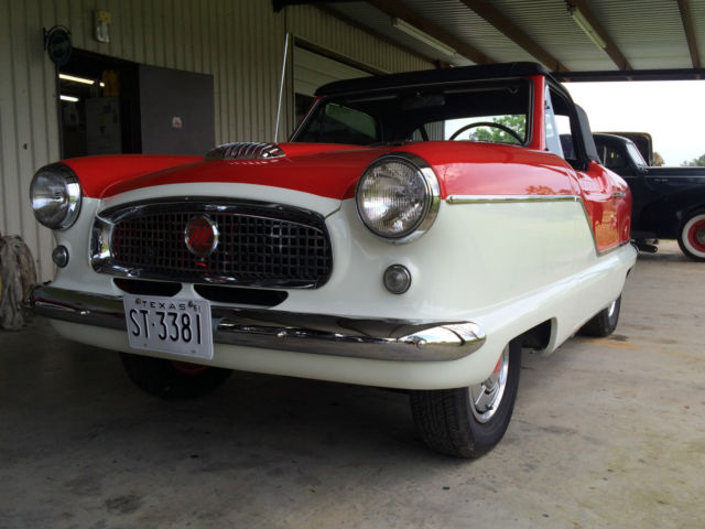 1961 Nash Metropolitan Convertible (classic red & white)