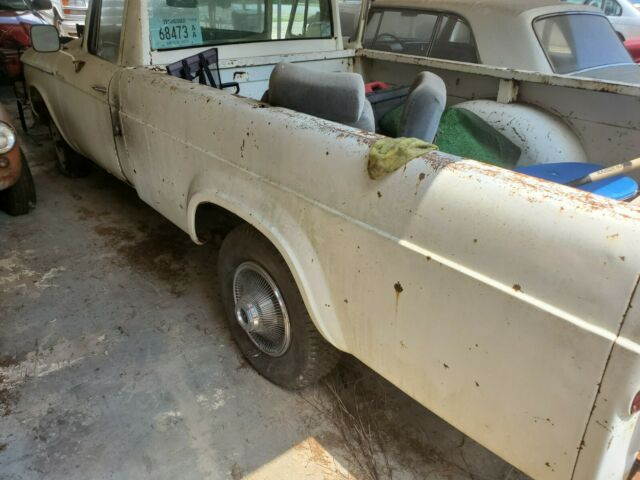 1961 Brown Studebaker Champion Extended Crew Cab Pickup with White interior