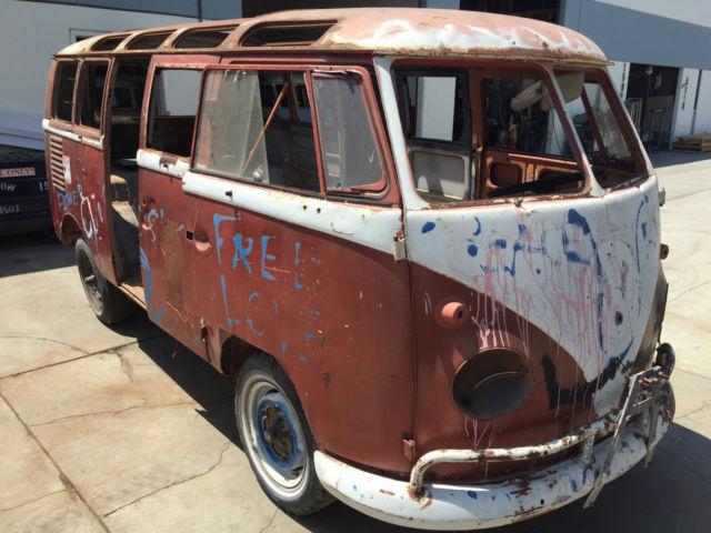 1961 Volkswagen Double Door Bus 23 Window Project For Sale