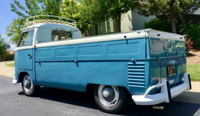 1961 Blue Volkswagen Transporter with Gray interior