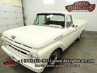 1961 Ford F-100 Runs Drive Body Inter Excel Fac AC 292V8