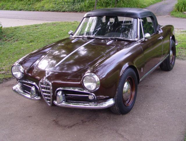 1962 Alfa Romeo Giulietta Spider, Below Fair Market Value