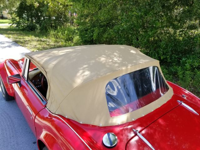 1962 Red Austin Healey 3000 Classic Roadsters Sebring Convertible with Tan interior