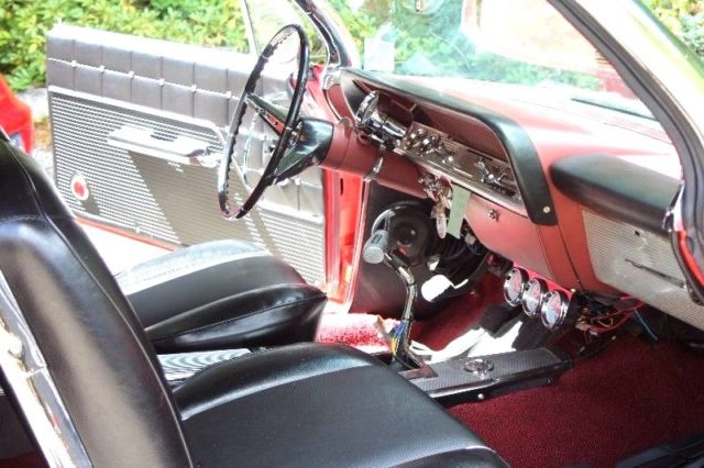 1962 Red Chevrolet Impala Convertible with Black interior