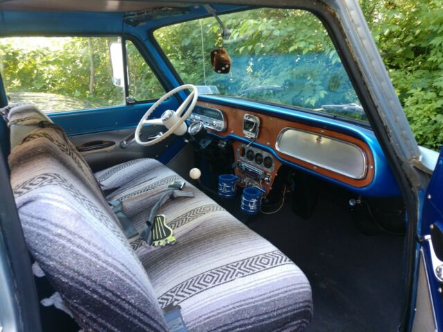 1962 Blue Chevrolet Corvair 95 Minivan with Blue interior