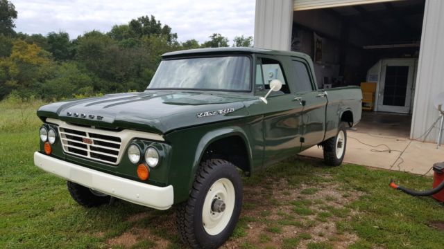 1962 dodge d200 crew cab 4x4 power wagon rare for sale photos technical specifications. Black Bedroom Furniture Sets. Home Design Ideas