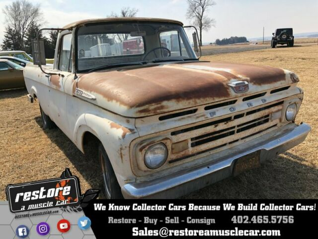 1962 Ford F-100 Long Box Uni-Body, Calif Rust Free, Great Builder