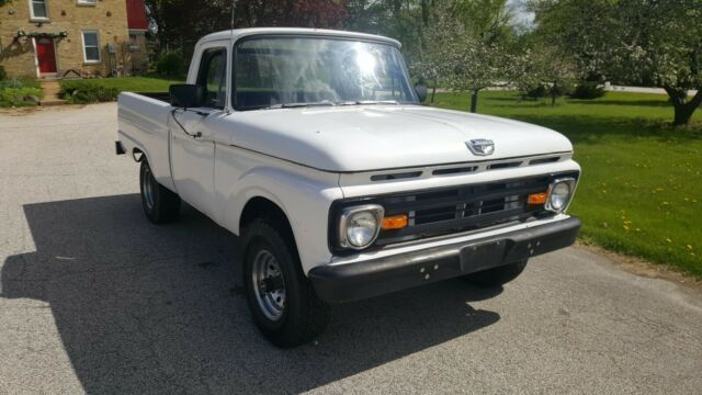 1962 White Ford F-100 Standard Cab Pickup with Black interior