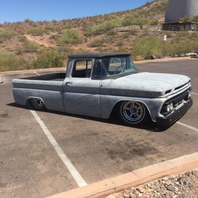 1962 gmc pickup truck custom 1000 c10 chevy rat rod patina bagged