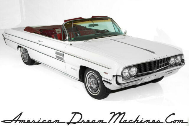 1962 Oldsmobile 98 Convertible, White, Rocket V8, Automatic