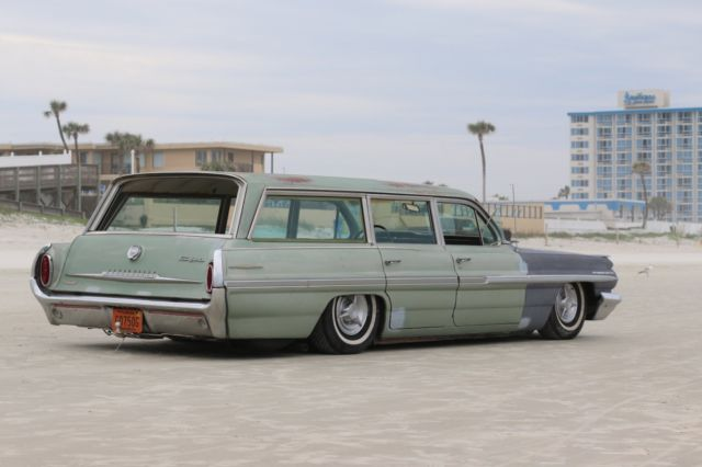 1962 Pontiac Safari Air Ride Bagged Patina Wagon Rat Rod