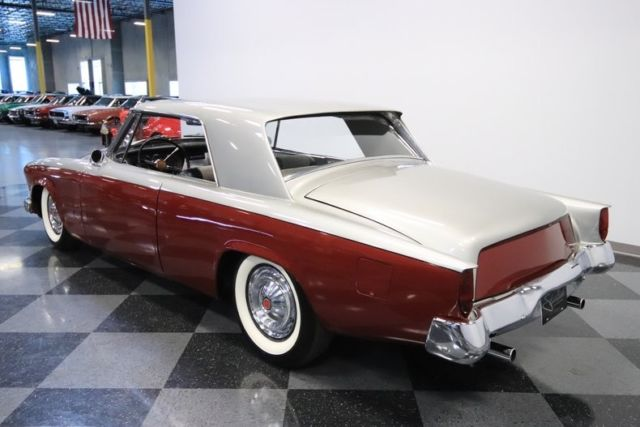 1962 Red Studebaker GT Hawk Coupe with Silver interior