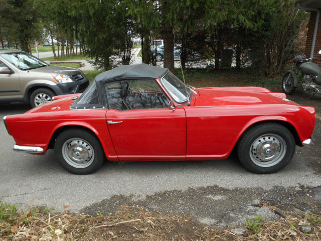 1962 Triumph Tr4 Very Nice Looking Driver With Overdrive Gear Box