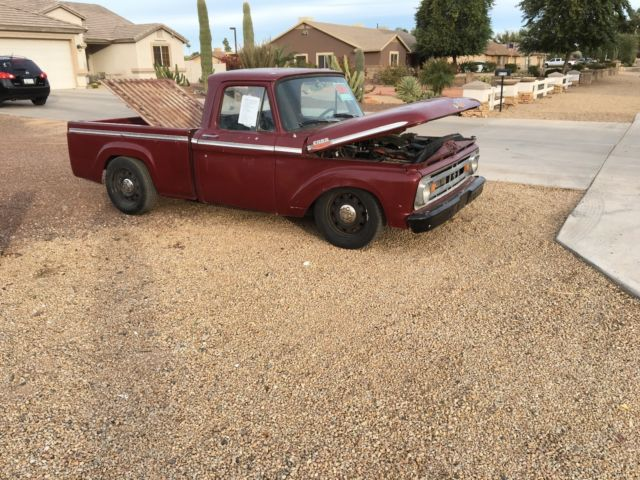1963 63 f100 custom short bed styleside crown vic victoria
