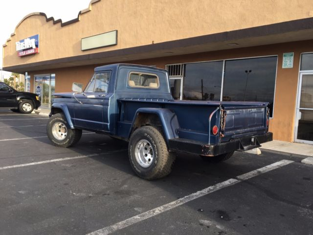 1963 Blue Jeep Gladiator Thriftside Bed 3 8l Tornado Inline 6 For
