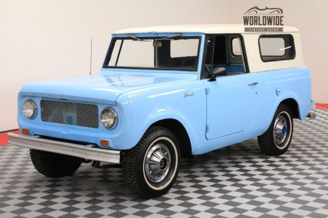 1963 International Harvester Scout RESTORED 4X4 FULL CONVERTIBLE TOP