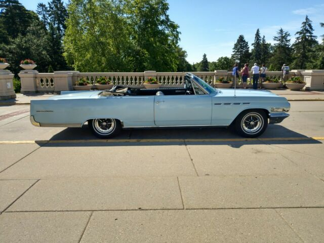 1963 Blue Buick Electra Convertible with Blue interior