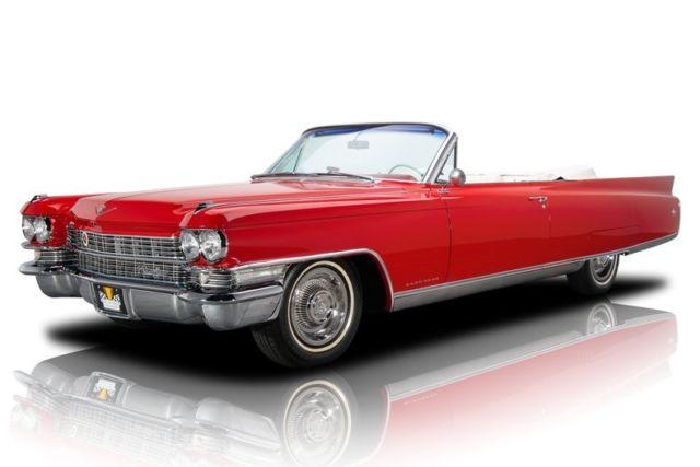 1963 Cadillac Eldorado Biarritz Matador Red Convertible 390 V8