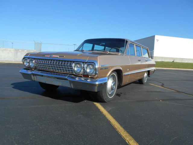 1963 Chevrolet Impala 1 OWNER,SURVIVOR, 9 PASSENGER WAGON, BARN FIND