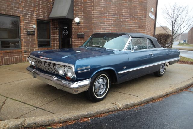 1963 Chevrolet Impala SS Convertible - 4spd - #'s Matching