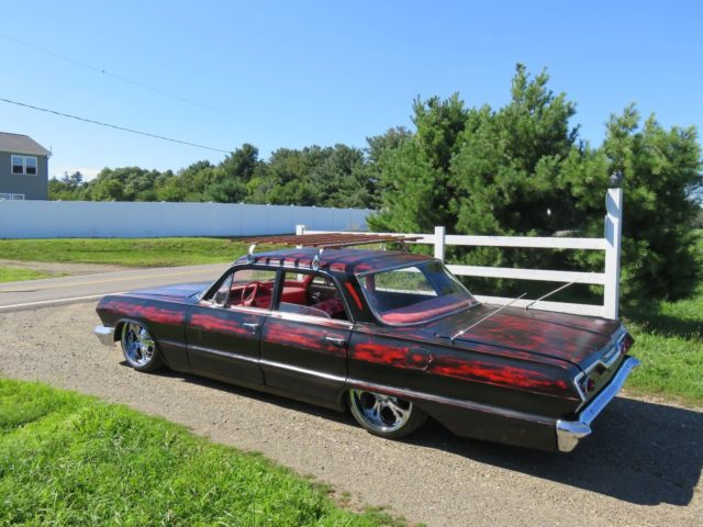 1963 Chevy Belair For Sale 1963 Chevy Belair. rat rod slammed lowrider bagged air ride hot rod ...