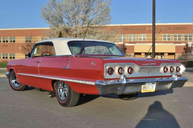 1963 chevy impala 2 door hard top 350 v8 zz4 th350 9 rear full msd factory air for sale photos. Black Bedroom Furniture Sets. Home Design Ideas