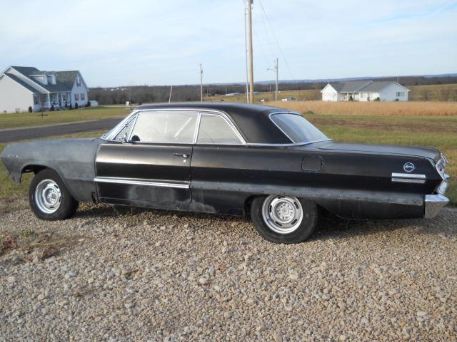 1963 chevy impala 2 door hardtop project car for sale photos technical specifications description. Black Bedroom Furniture Sets. Home Design Ideas