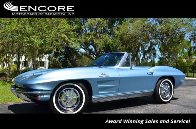 1963 Chevrolet Corvette Convertible W/#'s Matching Small Block