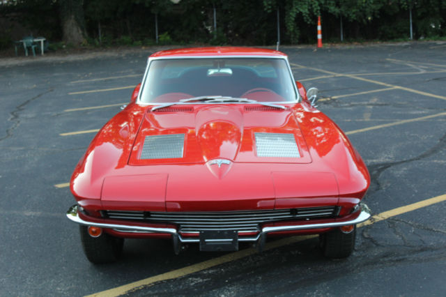 1963 Corvette Split Window Coupe Red With Red Interior For