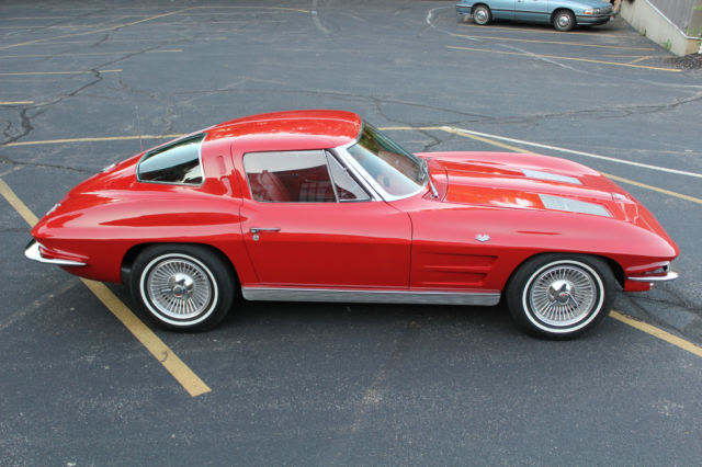 1963 corvette split window coupe red with red interior for sale. Cars Review. Best American Auto & Cars Review