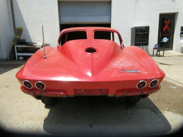 1963 RIVERSIDE RED Chevrolet Corvette STING RAY 2 DOOR SPORT COUPE with RED interior
