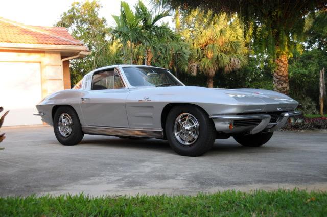 1963 corvette z06 sebring silver with black interior. Black Bedroom Furniture Sets. Home Design Ideas