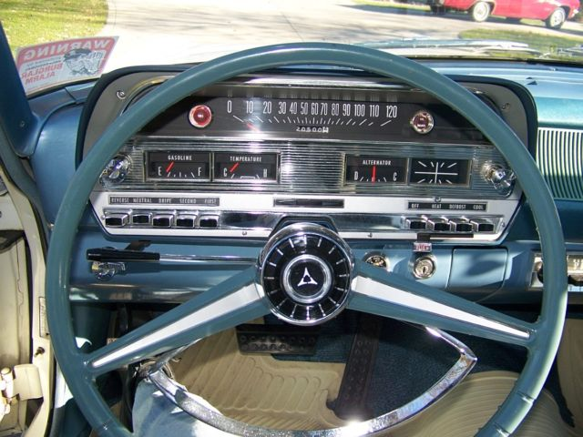 1963 White Dodge 330 with Blue interior