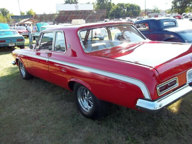 1963 Red Dodge 2 Door Sedan B-Body Sedan with Tan interior