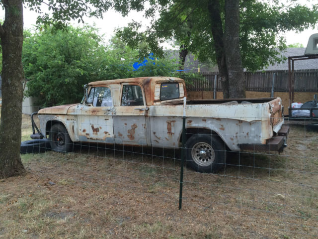 170552 1963 Dodge D200 Crew Cab Truck 318 V8 Antique Vintage Classic Rat Rod Patina on 1956 dodge d200
