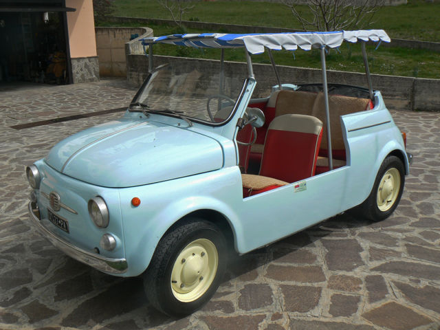 1963 fiat 500d very rare spiaggina jolly cabriolet for sale photos technical specifications. Black Bedroom Furniture Sets. Home Design Ideas
