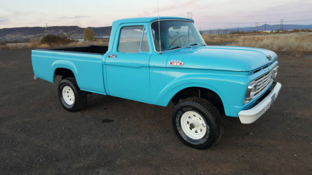 1963 ford f 100 4x4 pickup truck new paint upholstery. Black Bedroom Furniture Sets. Home Design Ideas