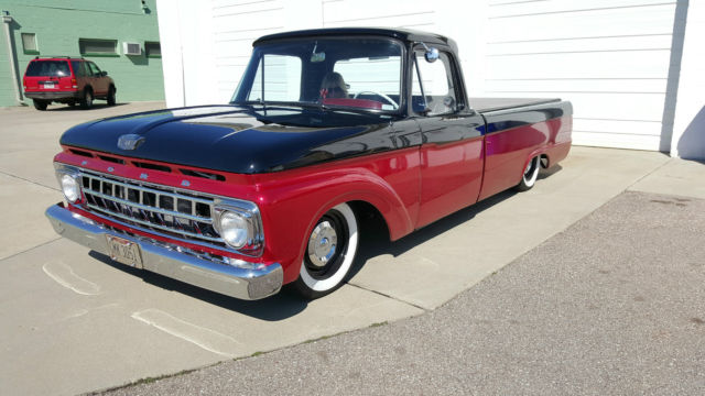 1963 ford f100 full custom bagged show truck not a rat rod. Black Bedroom Furniture Sets. Home Design Ideas