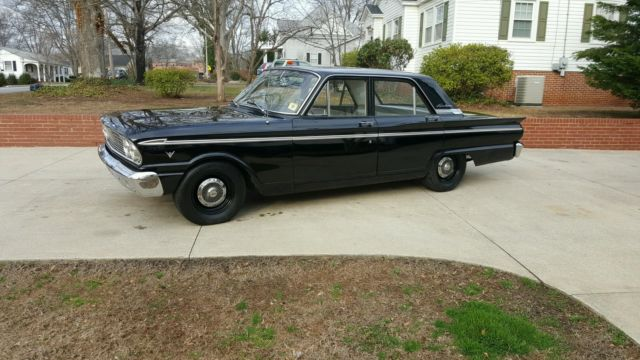 1963 Ford Fairlane Sedan V8 Stick O D Black 44k Actual