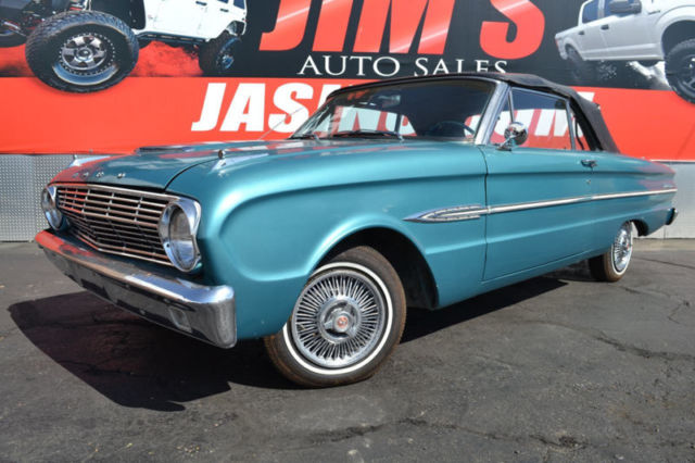 1963 Teal Ford Falcon Ford Falcon Convertible Rare Ford Product Sedan with Teal interior