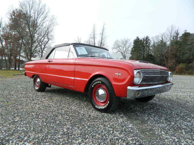 1963 Red Ford Falcon Convertible 302 V8 5spd Convertible with Black interior