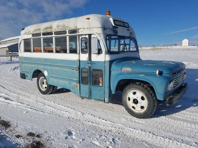 1963 Ford Short Vintage Rv Motorhome Camper School Bus