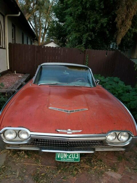 1963 Red Ford Thunderbird Hardtop Other with Red interior