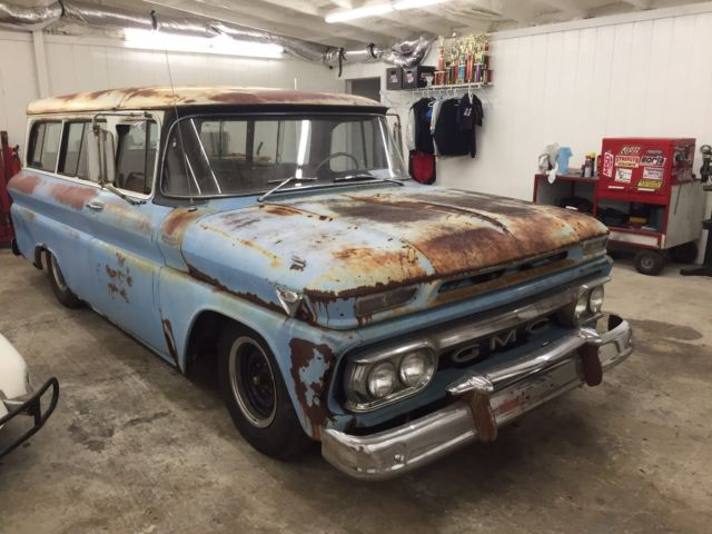 0a2ea95ff4 1963 GMC SUBURBAN PANEL WAGON AIR RIDE LS 5.3 MOTOR RAT ROD CRUISER AUTO