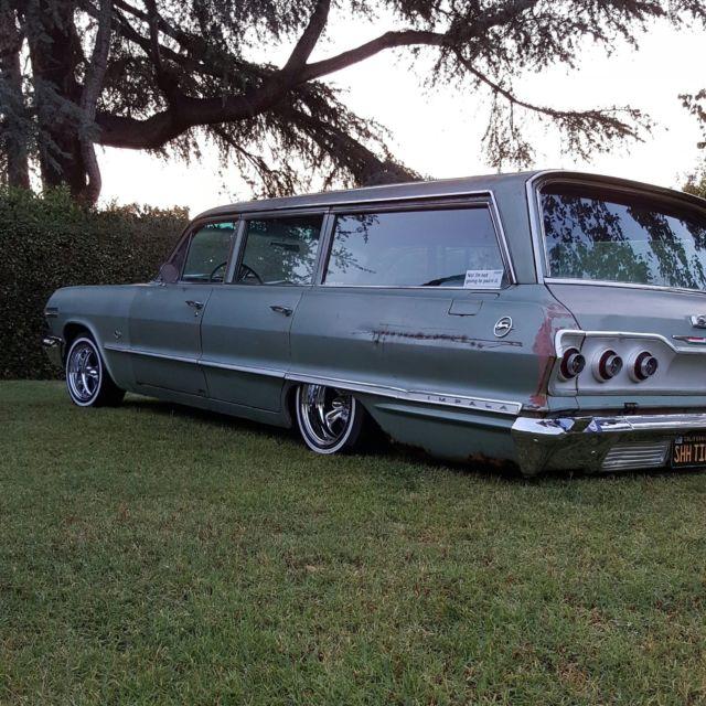 1963 impala wagon og paint bagged 9 passenger turnkey. Black Bedroom Furniture Sets. Home Design Ideas