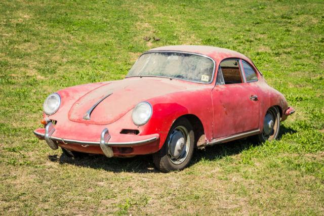 1963 Porsche 356 B Coupe Barn Find for sale: photos